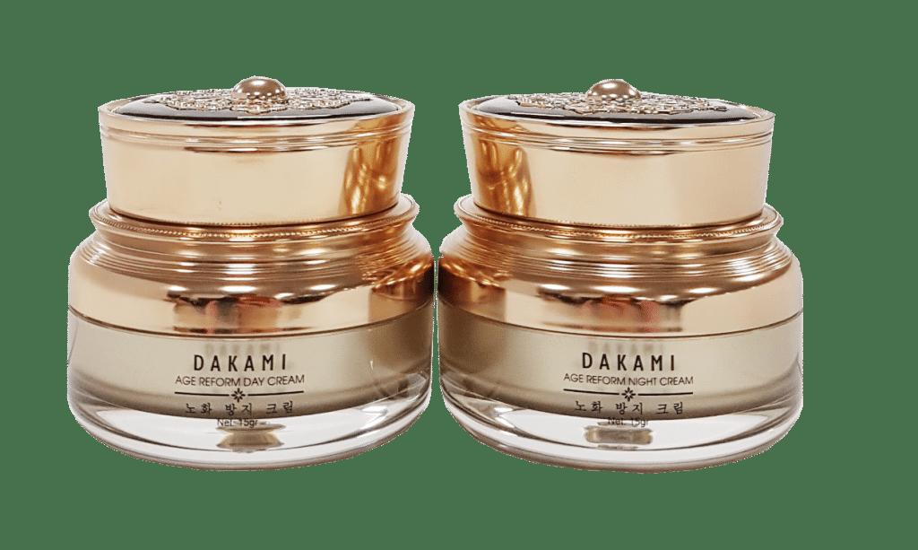 Thiết kế bao bì và dung tích của kem chống lão hóa dakami