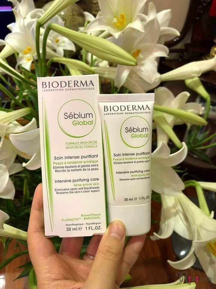 Review Kem trị mụn cho da dầu Bioderma Sebium Global