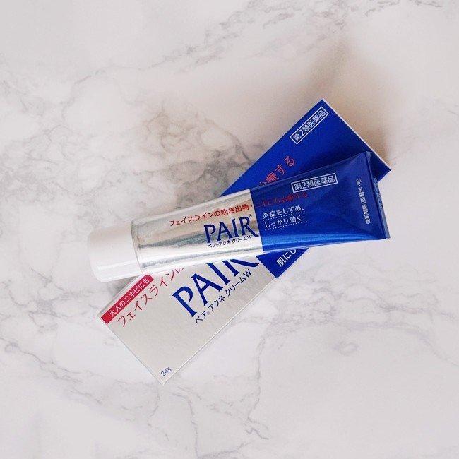 review Kem trị mụn bọc Pair Acne W Cream