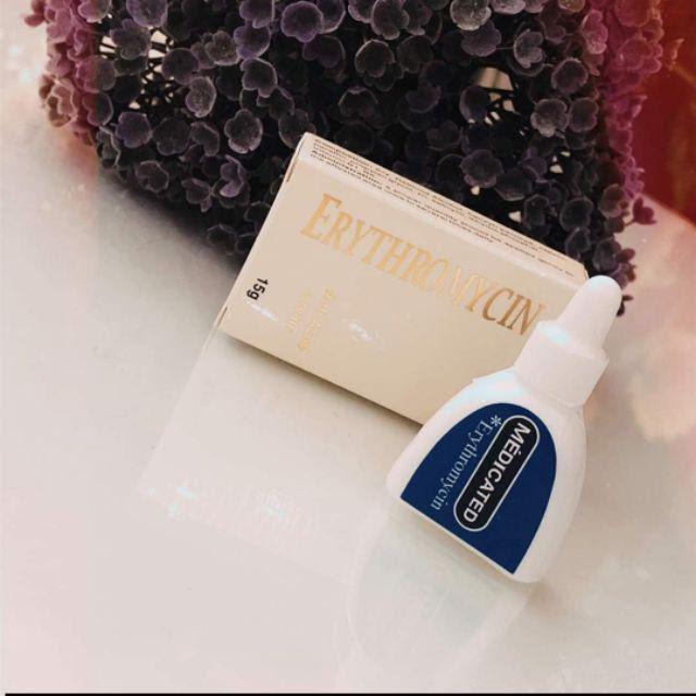 Review Kem trị mụn Médicated Erythromycin Anti Acne Cream của Nhật