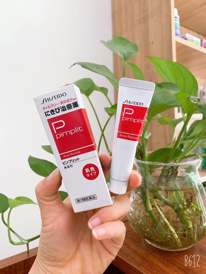 Review Kem trị mụn Shiseido Pimplit Acne Remedy của Nhật Bản