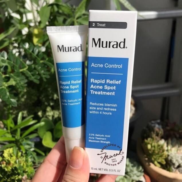 Review Kem trị mụn cho nam Murad Rapid Relief Acne Spot Treatment