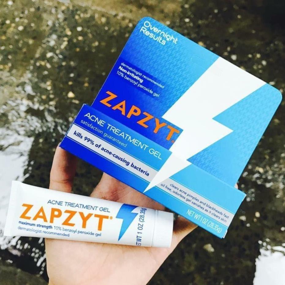 Review Kem trị mụn cho nam Zapzyt 10% Benzoyl Peroxide Gel