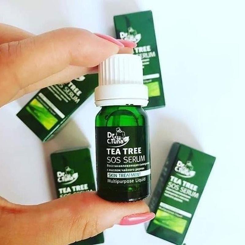 Review Serum trị mụn Tea Tree Sos Farmasi