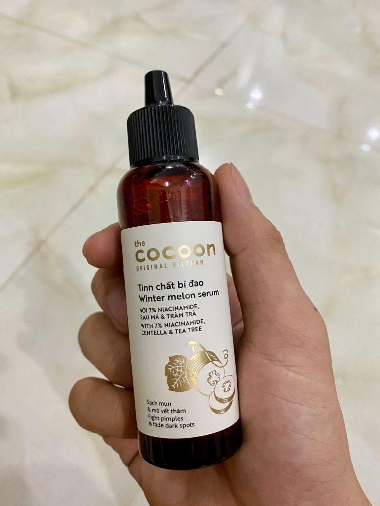 Review Serum trị mụn ẩn Cocoon Winter Melon