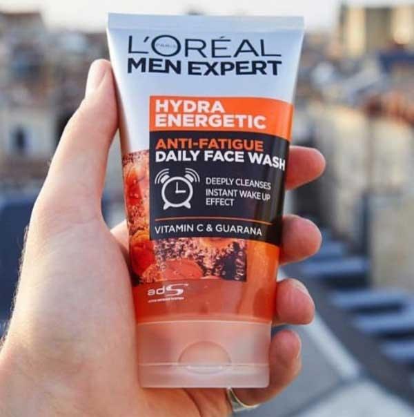 Review Sữa rửa mặt trị mụn cho nam L'Oreal Men Expert Hydra Energetic Wash