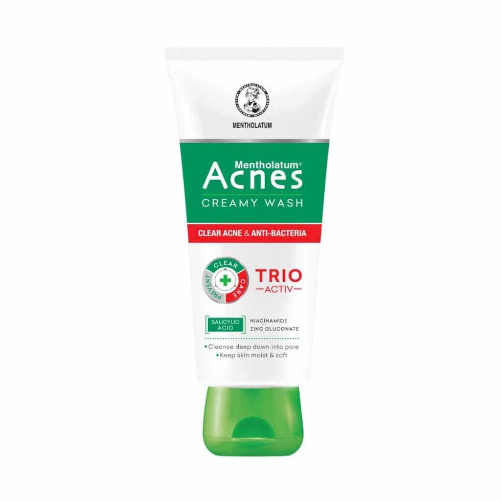 Review sữa rửa mặt trị mụn Acnes Creamy Wash của Nhật