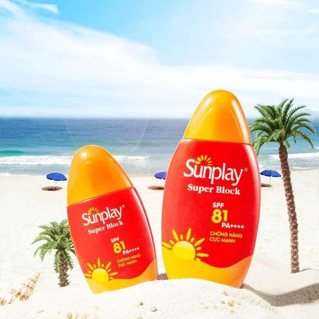 Review Kem chống nắng đi biển Sunplay Super Block SPF 81 PA++++