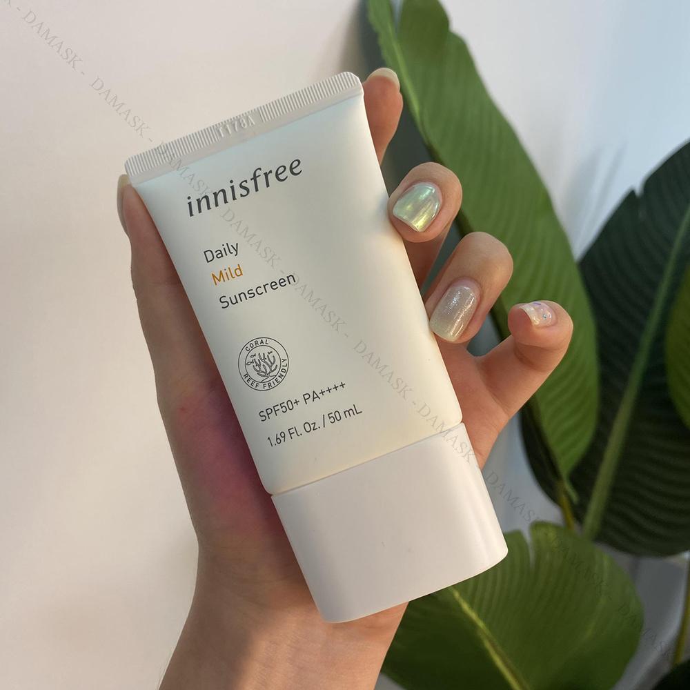 Review Kem chống nắng cho da khô Innisfree Daily Mild Sunscreen SPF50+ PA++++