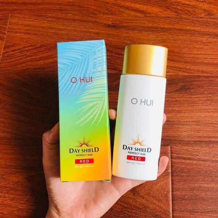 Review Kem chống nắng cho da nhạy cảm OHUI Day Shield Perfect Sun Red SPF50+ PA++++