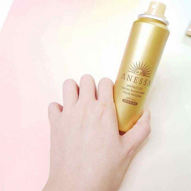 Review Kem chống nắng cho nam dạng xịt Anessa Perfect UV Sunscreen Skincare Spray