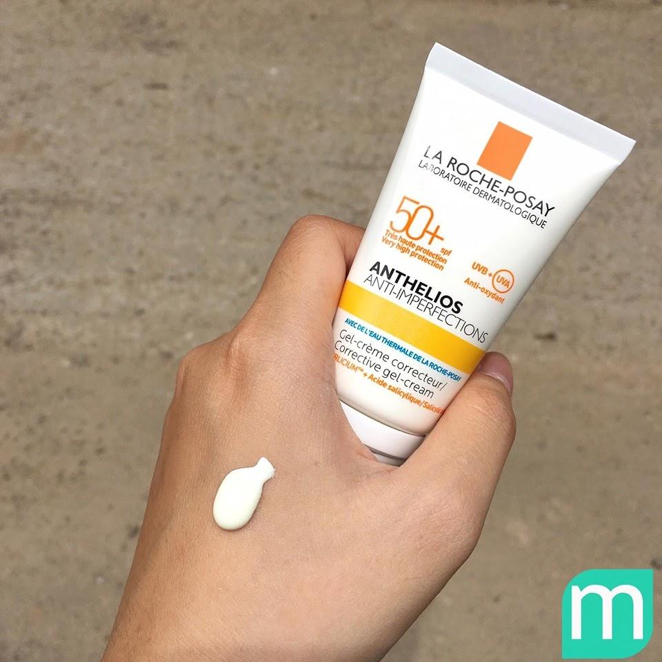 Review Kem chống nắng giúp bảo vệ da dành cho da bóng dầu dễ nổi mụn La Roche-Posay Anthelios Anti-Imperfection