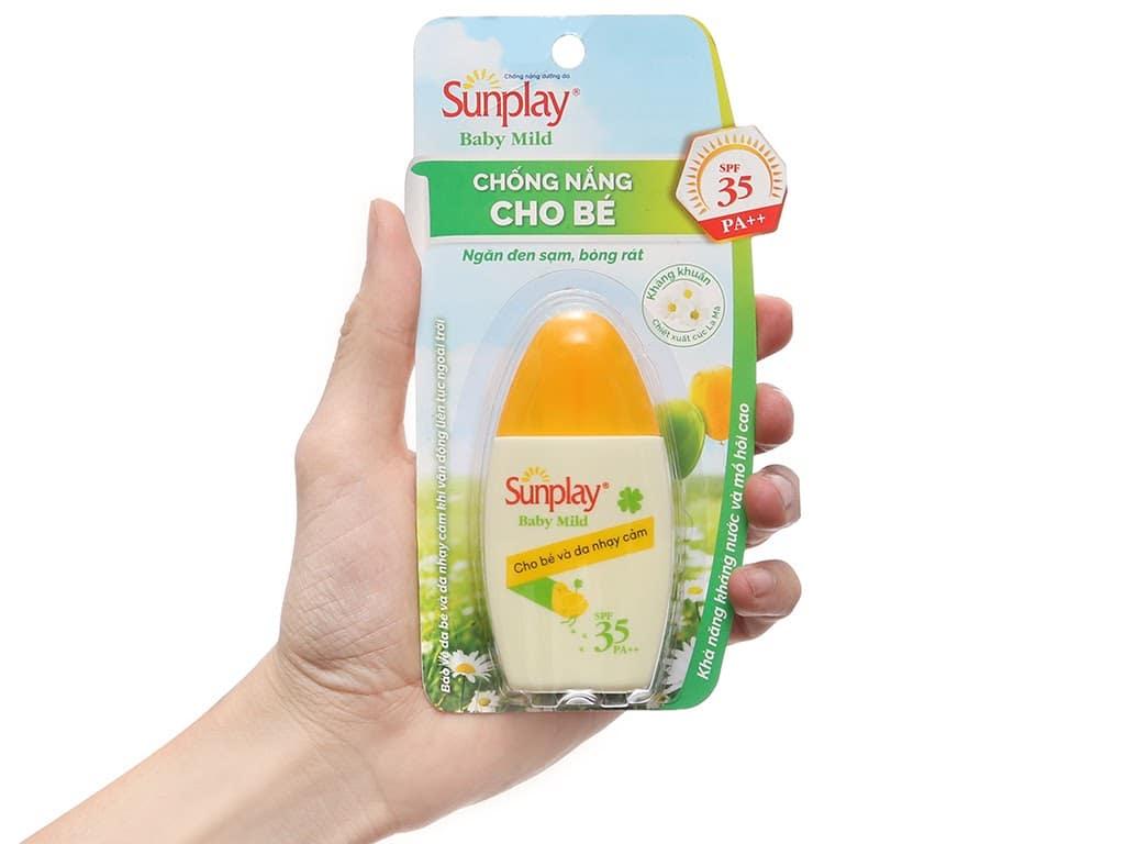 Review Sữa chống nắng cho bé và da nhạy cảm Sunplay Baby Mild SPF 35, PA++