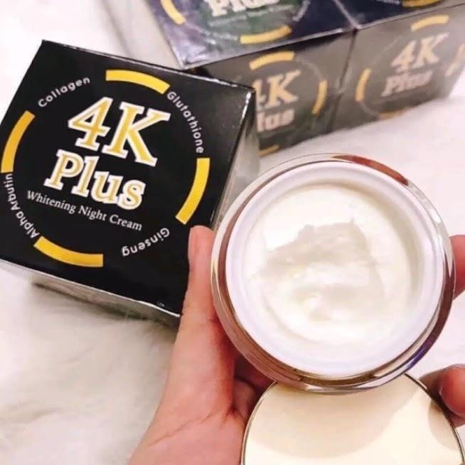 Review Kem dưỡng trắng da Thái Lan 4K Plus Night Cream Chiết Xuất Nhân Sâm