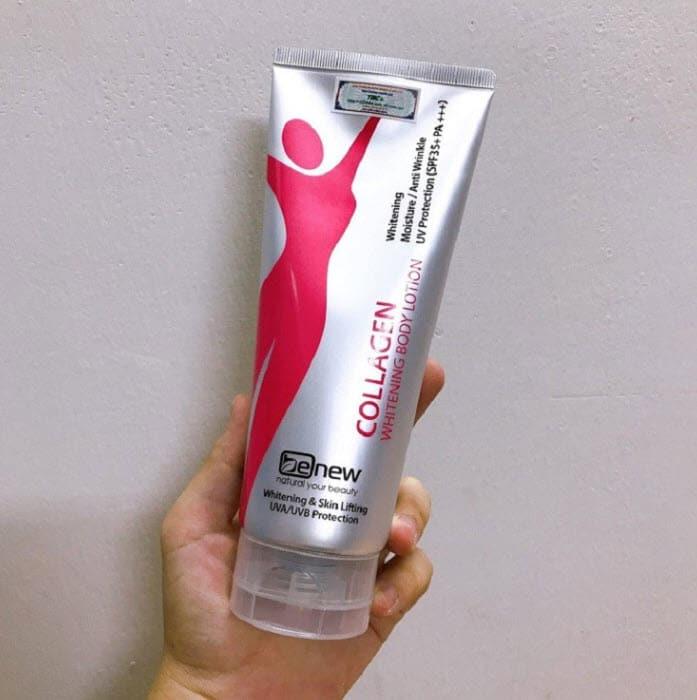 Review Kem dưỡng trắng da body Hàn Quốc Benew Collagen Whitening Body Lotion SPF35+ PA+++