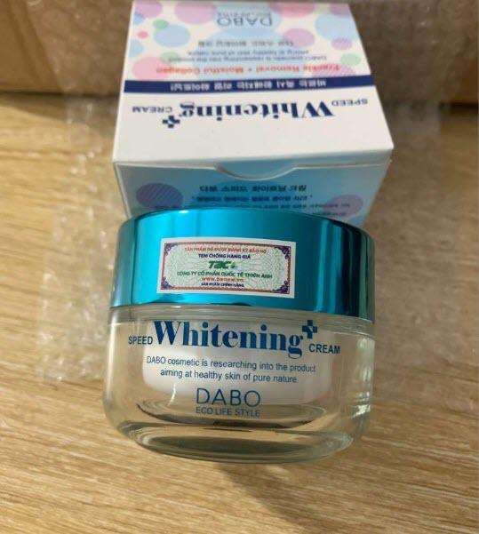 Review Kem dưỡng trắng da cho học sinh Speed Whitening Crem Dabo