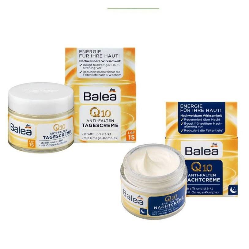Review Kem dưỡng trắng da của Đức Balea Q10 Anti Falten ngày đêm