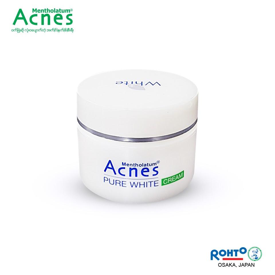 Review Kem dưỡng trắng da mặt giá rẻ Acnes Pure White Cream