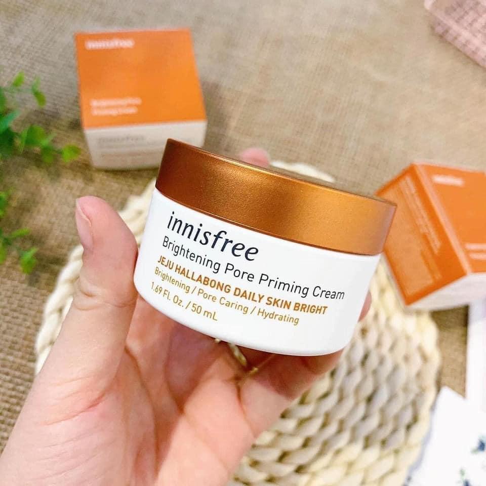 Review Kem trắng da cho nam innisfree Brightening Pore Priming Cream