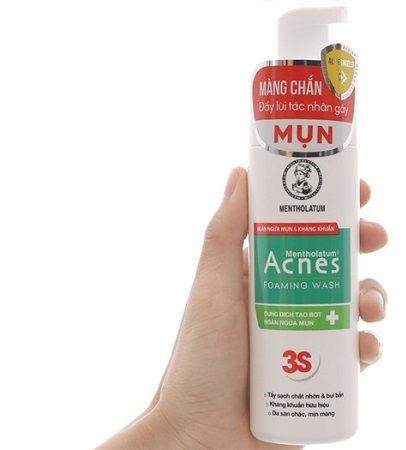 Review Sữa rửa mặt cho da hỗn hợp Acnes Foaming Wash