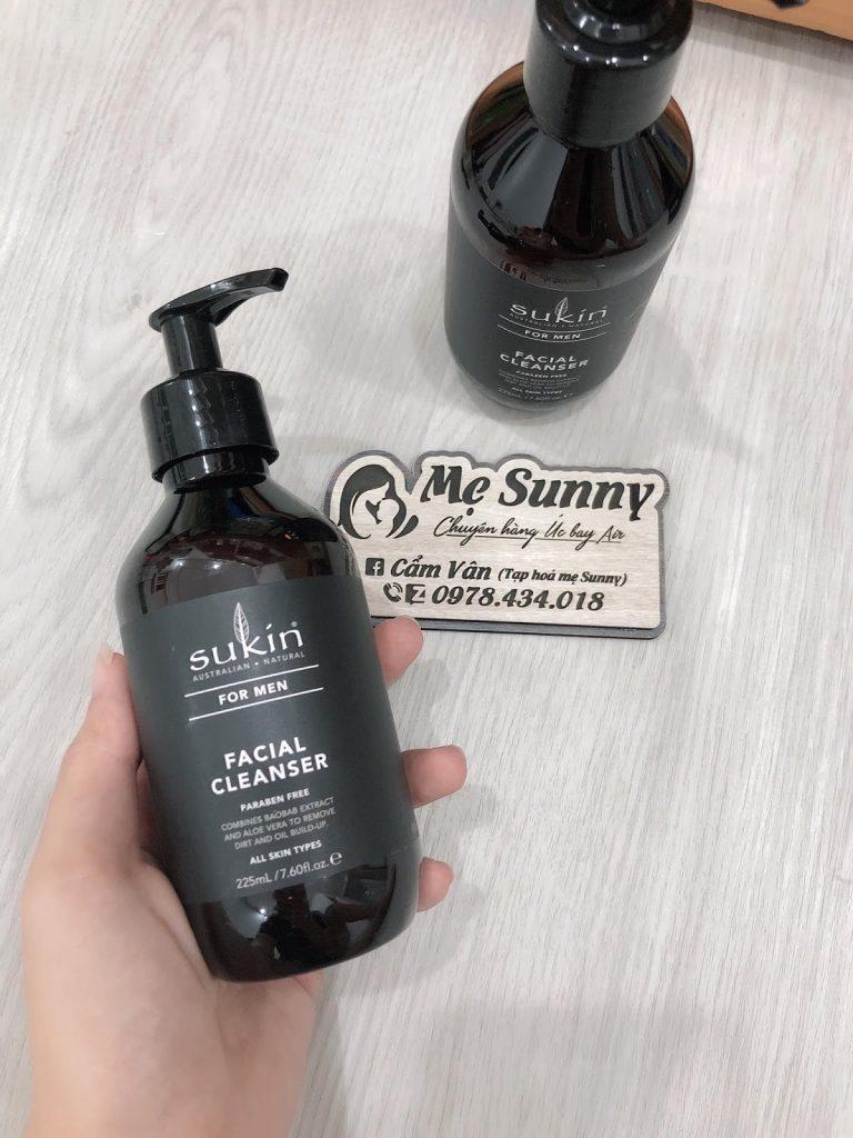 Review Sữa rửa mặt cho nam Sukin For Men Facial Cleanser