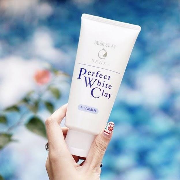 Review Sữa rửa mặt se khít lỗ chân lông Senka Perfect White Clay