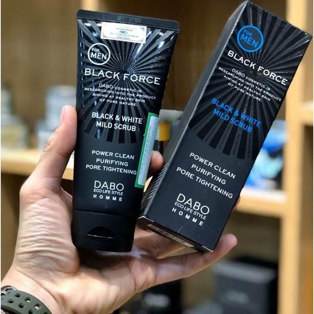 Review Sữa rửa mặt trắng da cho nam Dabo Black Force For Men