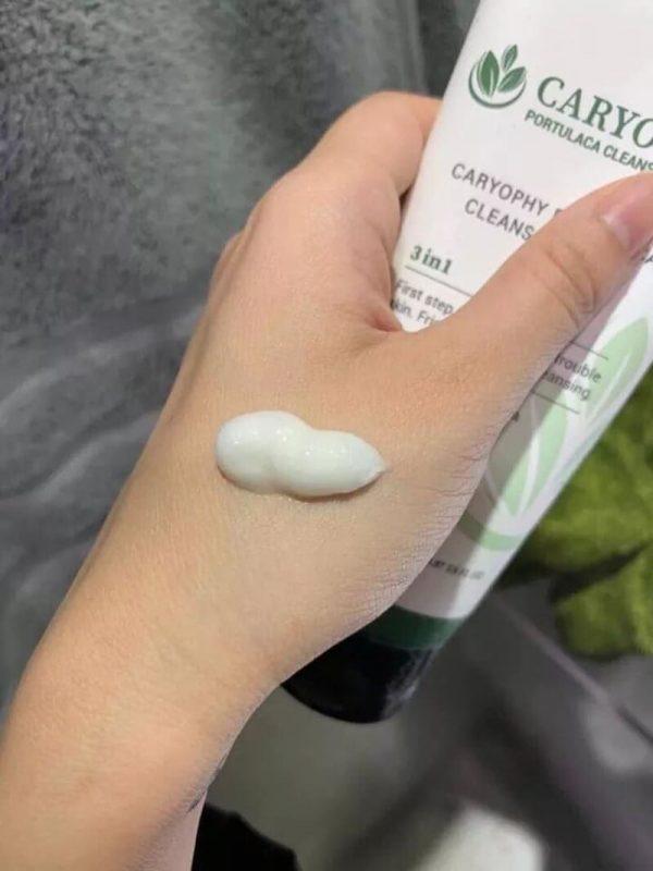 Review Sữa rửa mặt trị thâm Caryophy Portulaca Cleansing Foam