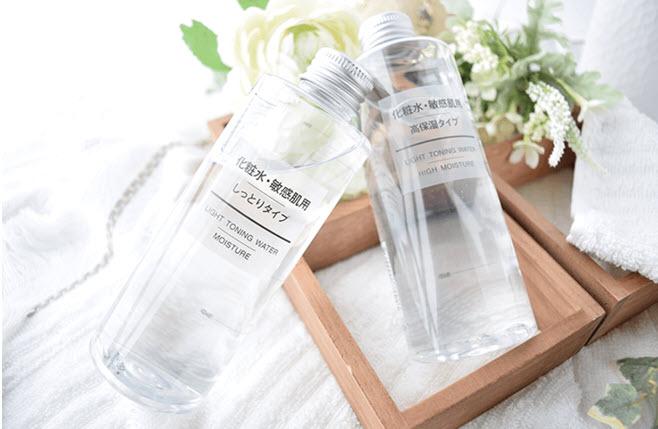 Review Nước hoa hồng cho da khô Muji Light Toning Water Moisture High Moisture