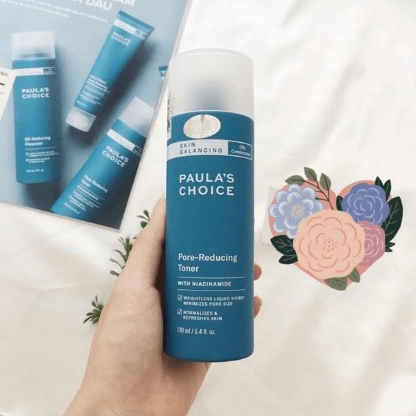 Review Nước hoa hồng se khít lỗ chân lông Paula's Choice Skin Balancing Pore Reducing Toner