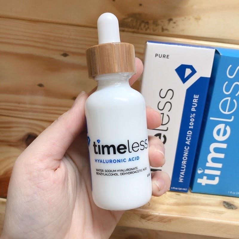 Review Serum cấp nước Timeless Hyaluronic Acid 100% Pure