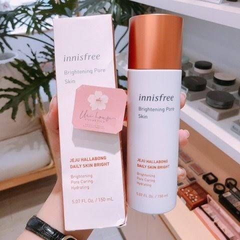 Review nước hoa hồng trắng da Innisfree Brightening Pore Skin