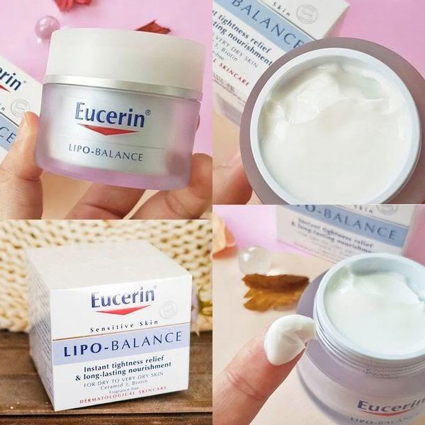 Review Kem dưỡng ẩm Eucerin Lipo Balance