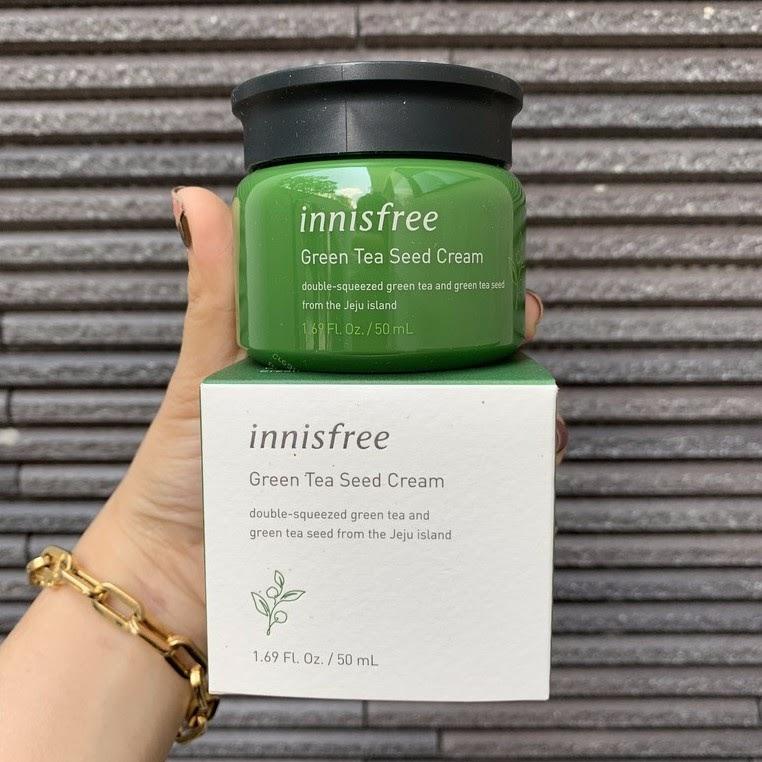 Review Kem dưỡng ẩm cho da dầu Innisfree Green Tea Seed Cream