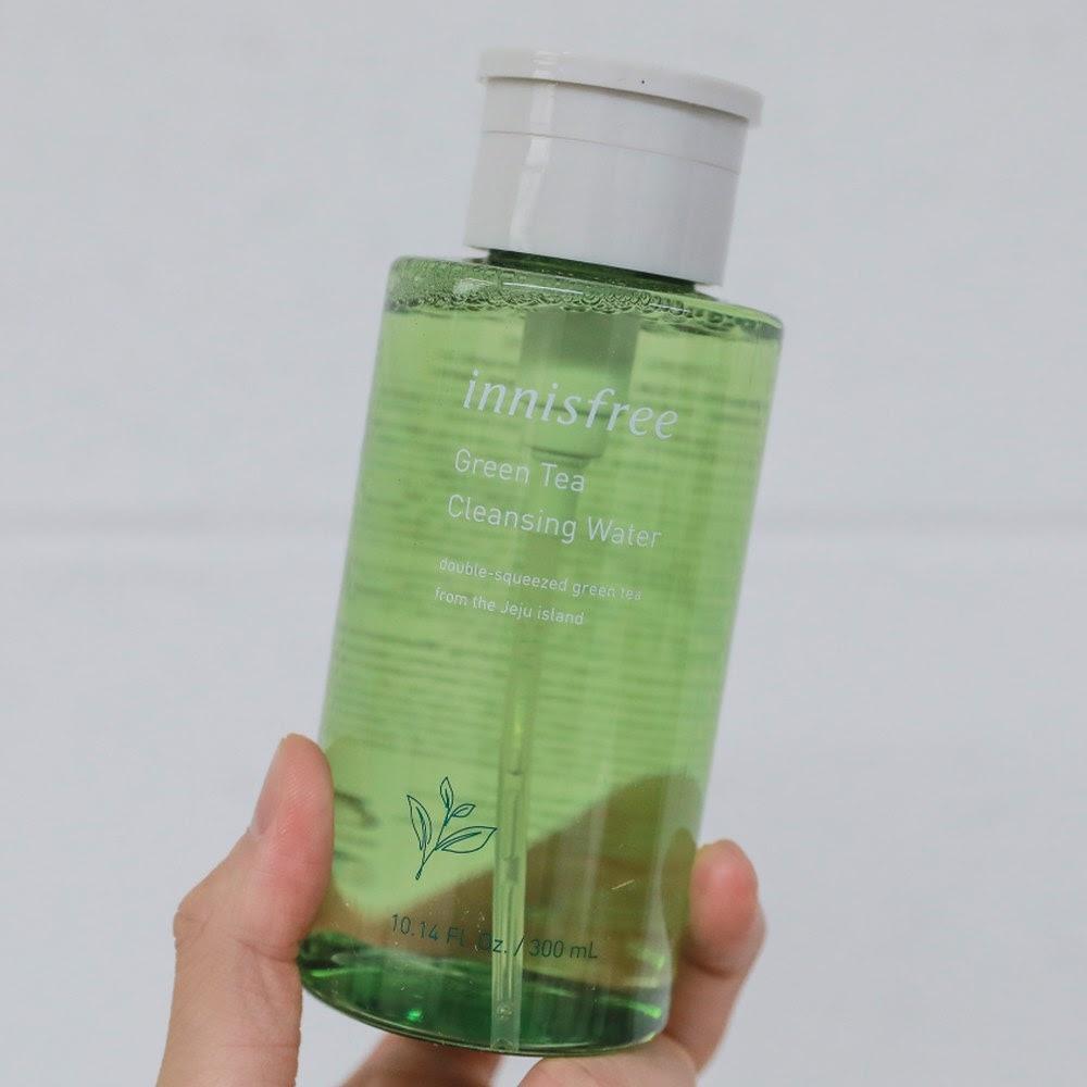Review Nước tẩy trang cho da dầu mụn Innisfree Green Tea Cleansing Water