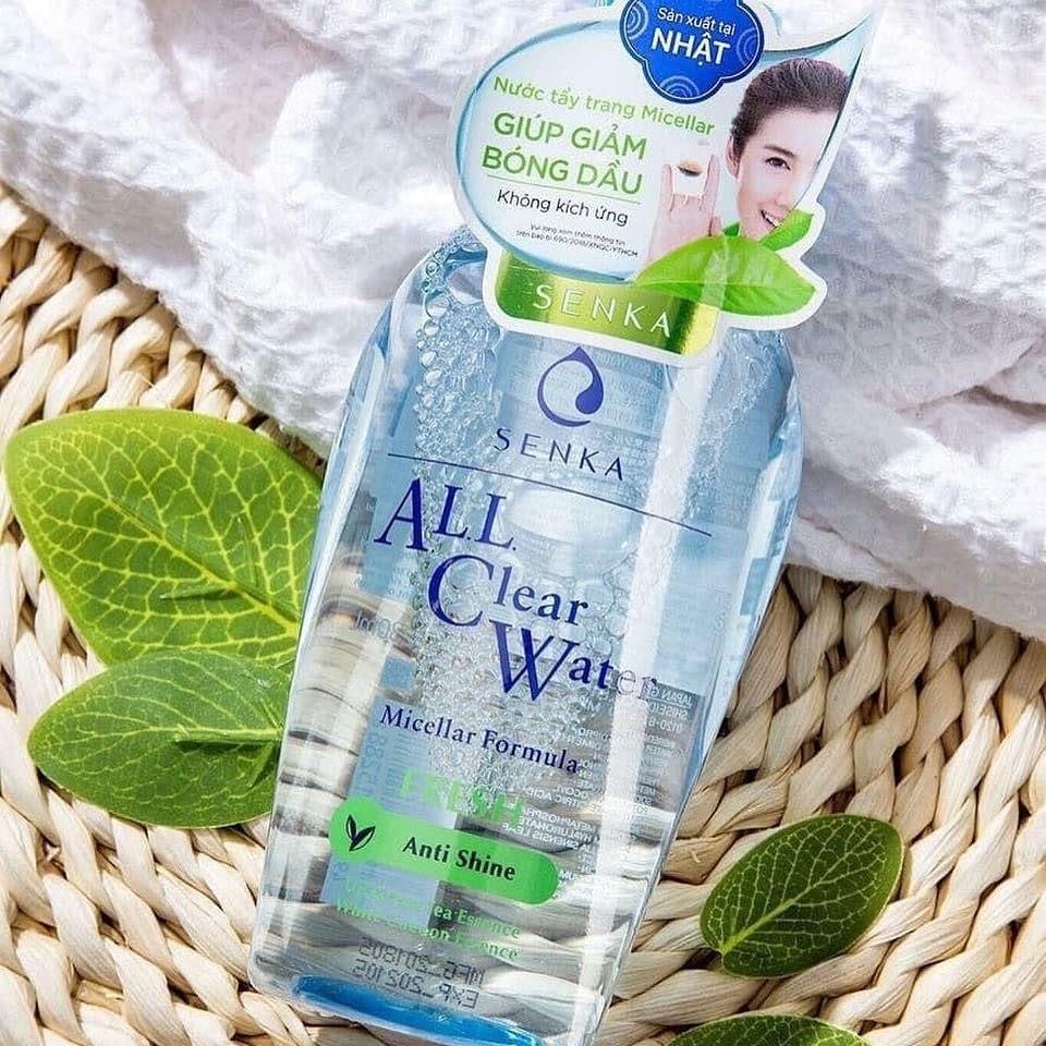 Review Nước tẩy trang cho da dầu mụn Senka A.L.L.Clear Water Fresh