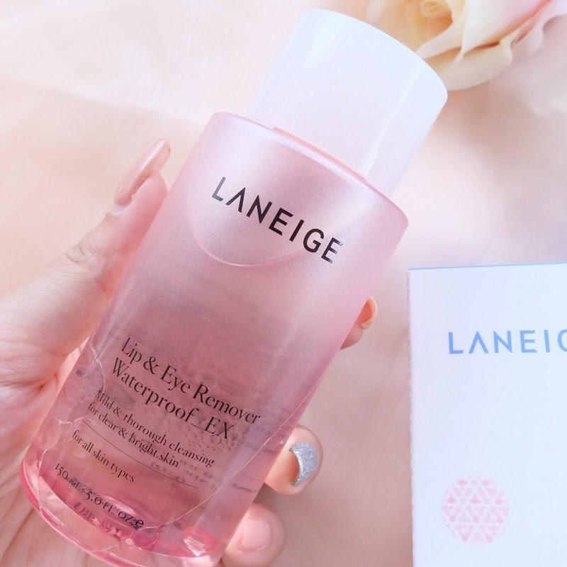 Review Nước tẩy trang dành cho mắt và môi Laneige Lip & Eye Remover Waterproof Ex