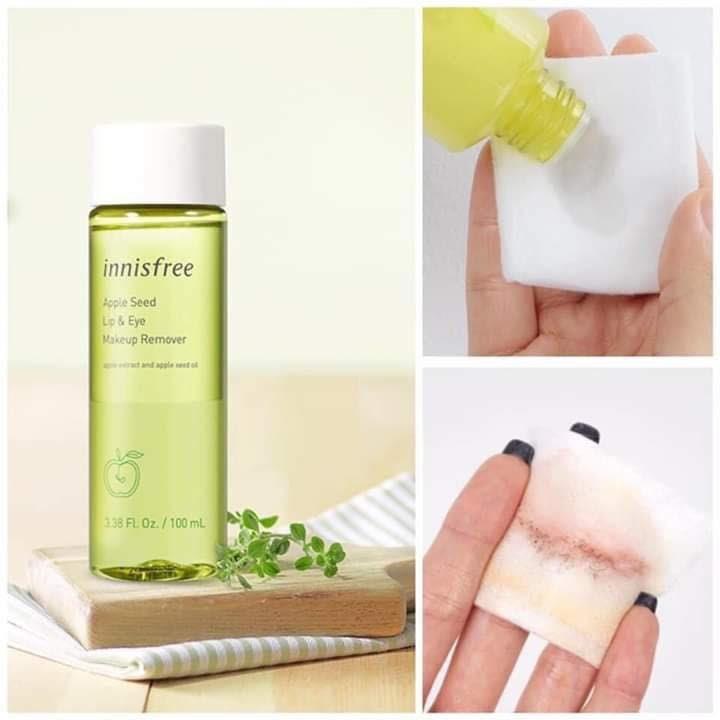 Review Nước tẩy trang mắt và môi từ hạt táo Innisfree Apple Seed Lip & Eye Remover