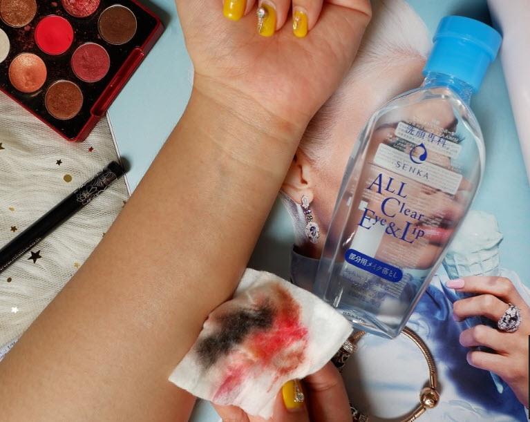 Review Nước tẩy trang vùng mắt & môi Senka A.L.L Clear Eye & Lip