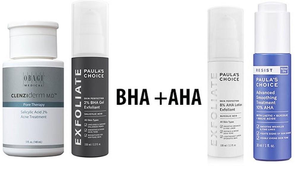 kết hợp AHA và BHA
