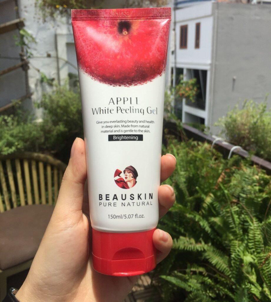 review Kem tẩy da chết cho da mụn Beauskin Apple White Peeling Gel Hàn Quốc