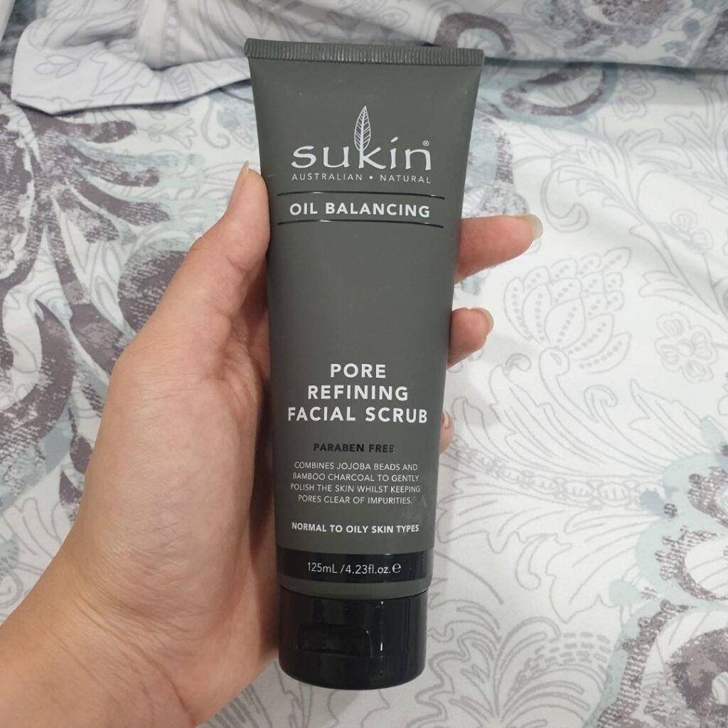 review Kem tẩy tế bào chết cho da dầu Sukin Oil Balancing Pore Refining Facial Scrub
