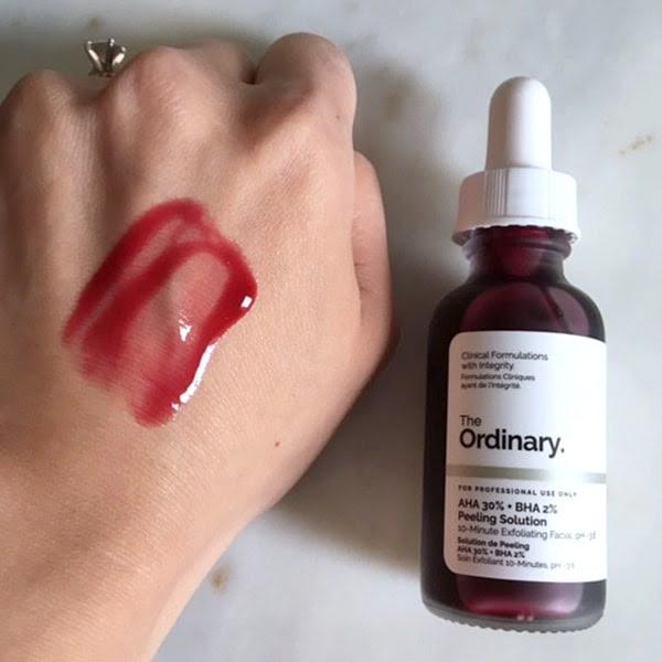review Serum tẩy da chết hóa học The Ordinary AHA 30% + BHA 2% Peeling Solution