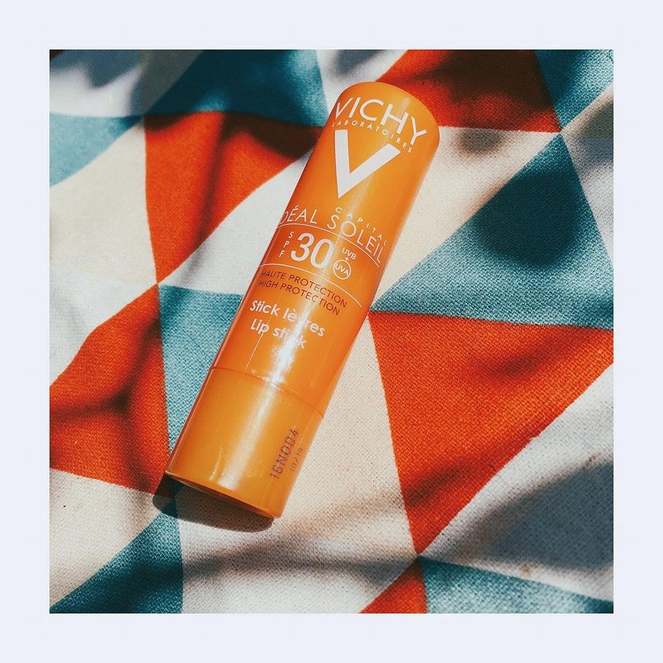 Review Son dưỡng môi chống nắng Vichy Capital Ideal Soleil High Protection Lip Stick SPF30