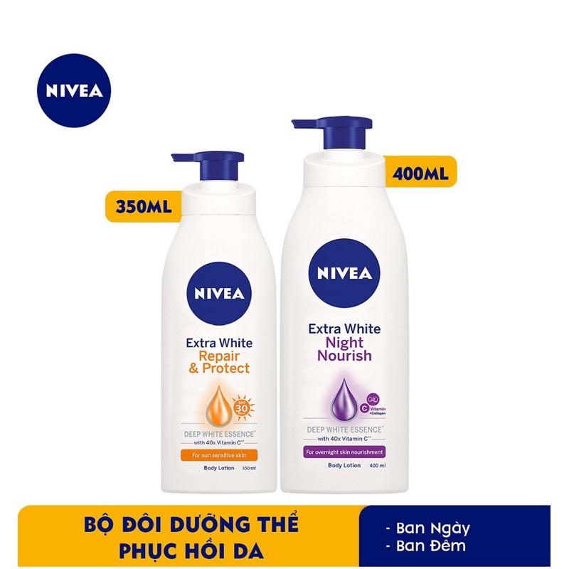 Review Sữa dưỡng thể trắng da ngày & đêm Nivea