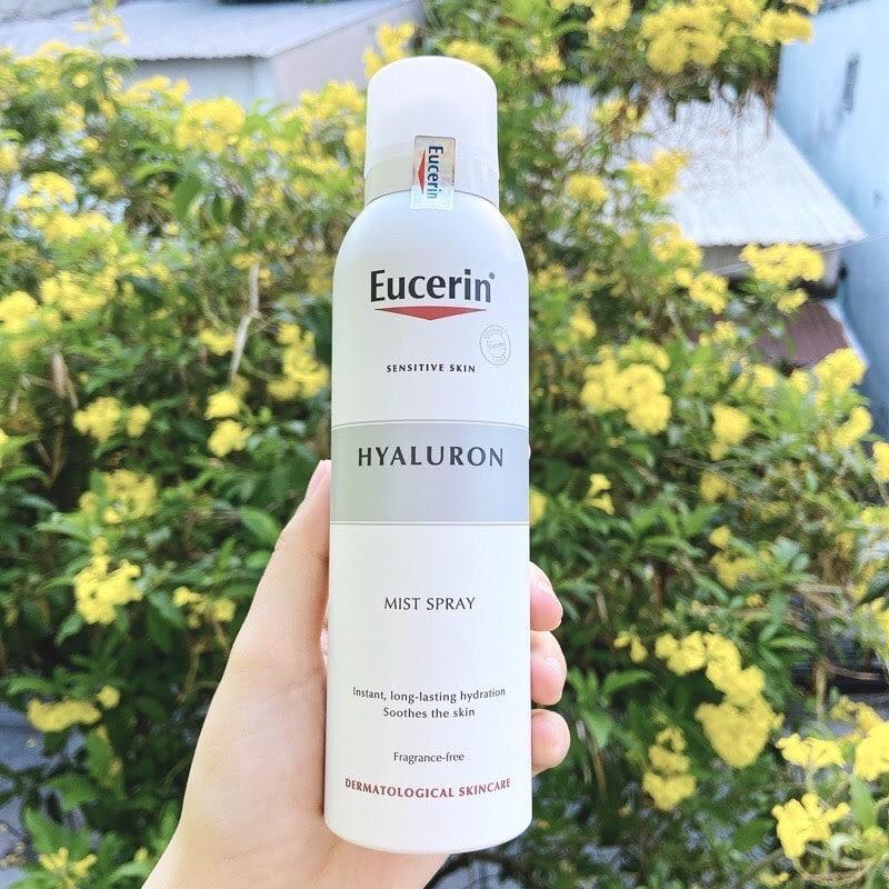 Review Xịt khoáng cho da nhạy cảm Eucerin Hyaluron Mist Spray