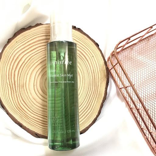 Review Xịt khoáng cho da nhạy cảm innisfree Aloe Revital Skin Mist