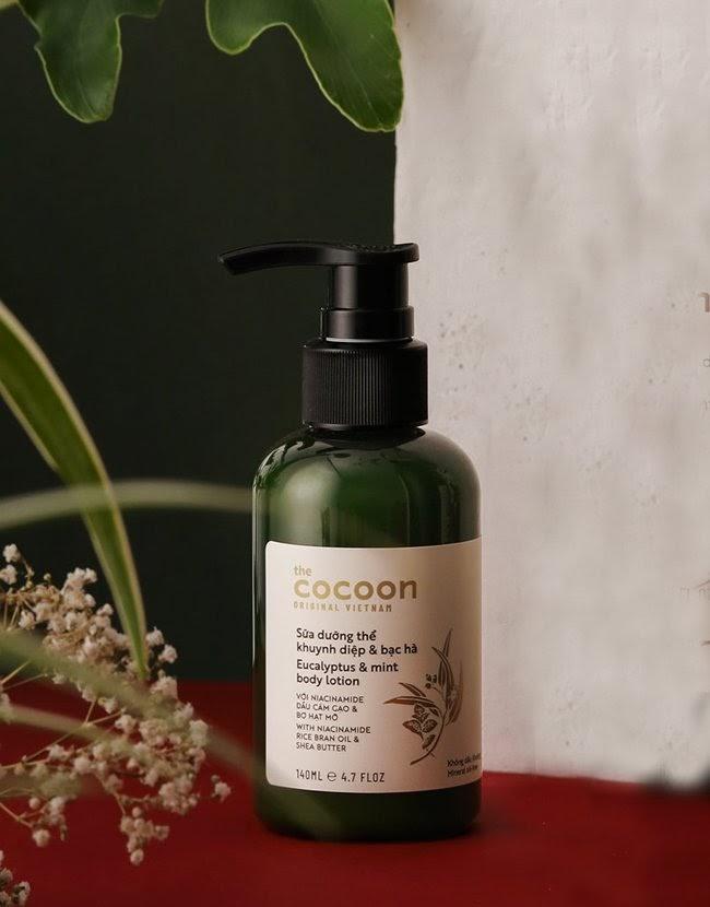 review Sữa dưỡng thể khuynh diệp & bạc hà Cocoon