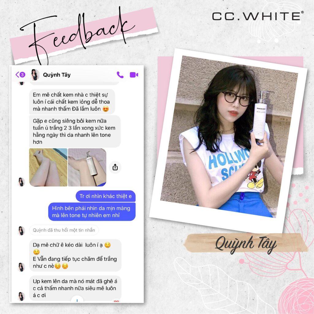 Feedback Cấy trắng Body Collagen CC.WHITE (1)