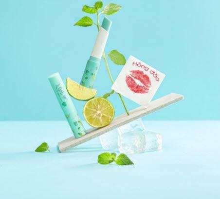 Review Son dưỡng môi cho nam Lipice Sheer Color Q Mojito Mint